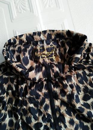 Летняя легкая ветровка оверсайз, леопардовый принт4 фото