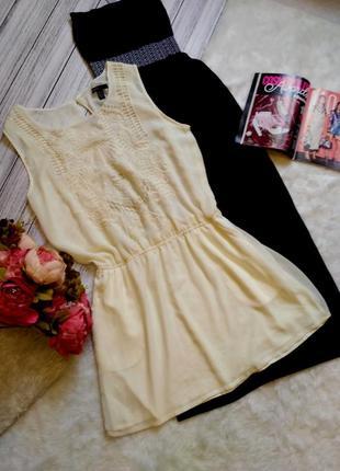 """Легкое летнее пляжное шифоновое платье в стиле """"casual"""" размер 12 (44-46)"""