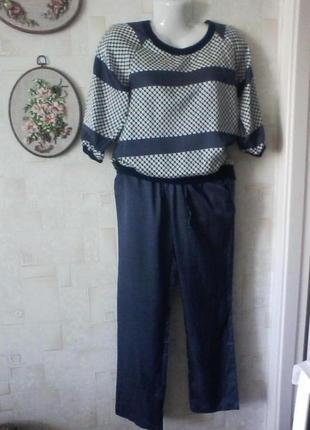 Шелковый костюм, шелк, для прогулок или как домашний, от princess tam tam, разм. 46