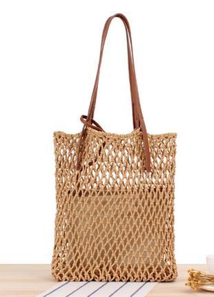 Плетеная сумка с косметичкой