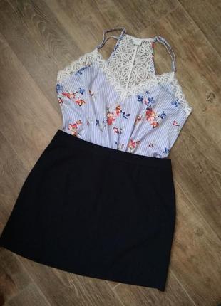 Модный лук, юбка + блуза