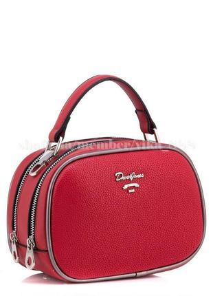 Клатч на два отделения, сумка через плечо david jones 5952 красный