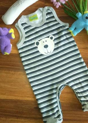 Классный летний песочник,человечек на малыша impidimpi 1-3 месяца.