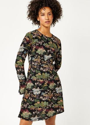 Werehouse платье в принт, 13-14/l