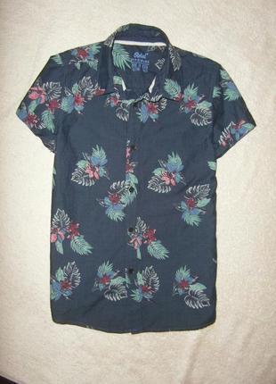 Котоновая рубашка от rebel на 10-11 лет в идеальном состоянии