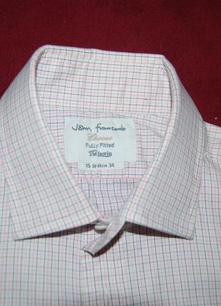 Натуральная брендовая рубашка в мелкую клетку