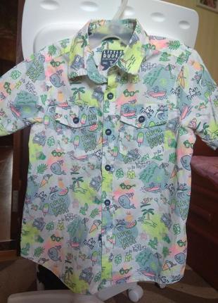 Летняя тенисочка для мальчика 3-4годика