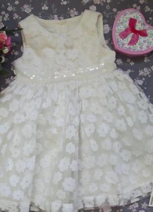 Красивое пышное платье на 6-9 м
