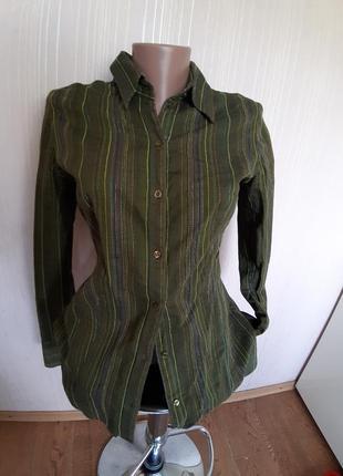 Фирменная коттоновая рубашка. франция1 фото