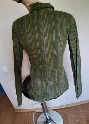 Фирменная коттоновая рубашка. франция5 фото