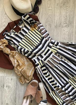 Милое платье сарафан тюльпан в полоску миди dorothy perkins