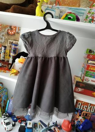 Летнее платье сарафан h&m на девочку 2-4 г, 92-104 см3 фото