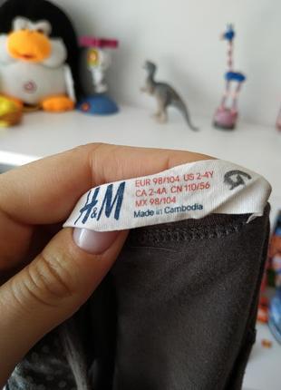 Летнее платье сарафан h&m на девочку 2-4 г, 92-104 см5 фото
