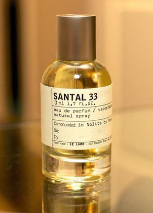 Le labo_santal 33 _original \ eau de parfum