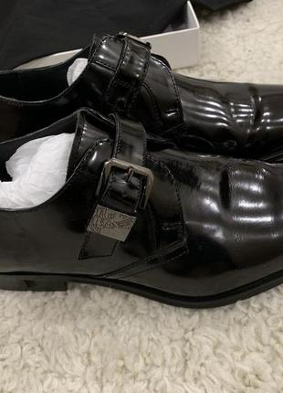 Супер модные мужские туфли versace кожа бомба