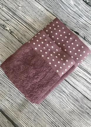 Набор махровых полотенец лицевое и банное