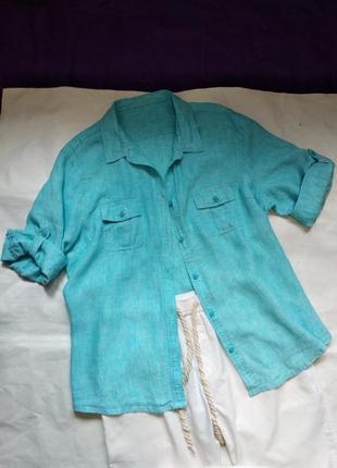 Блузка рубашка кардиган жакет из льна