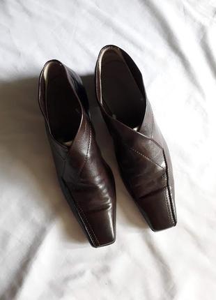Туфли с квадратным носом