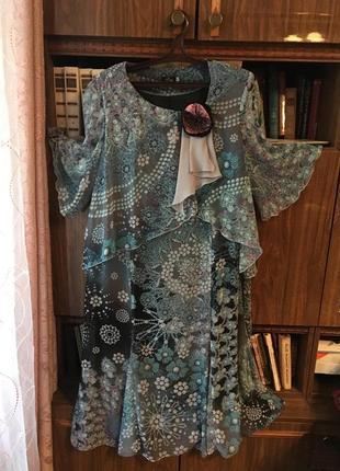 Новое   летнее платье  66р размер
