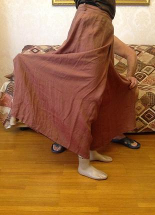 Льняная юбка-брюки margon италия оригинал
