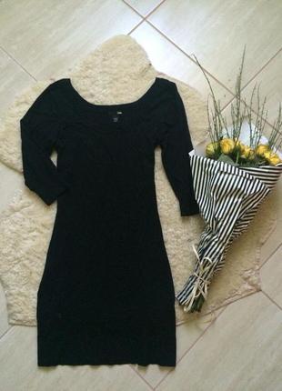 Черное платье от h&m