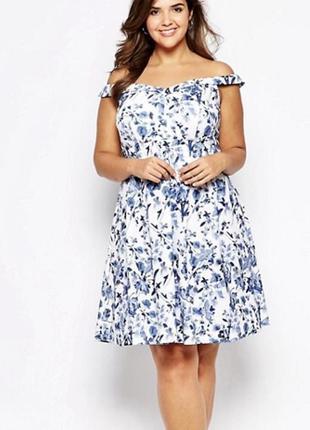 Очень красивое летнее платье - сарафан asos со спущенными плечами