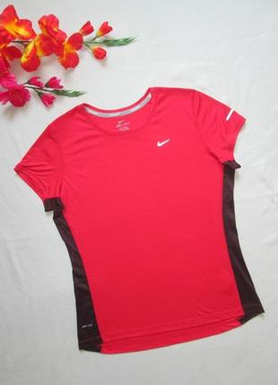 Фирменная спортивная футболка с контрастными вставками nike оригинал
