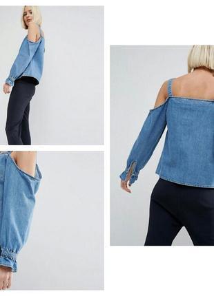 Джинсовая блуза asos