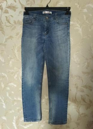 Классные джинсы стрейч, скинни, gloria jeans, 7-9 лет