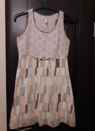 Летнее платье-сарафан с прошвой