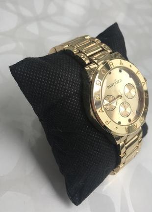 Женские наручные металлические модные часы золотистые3 фото
