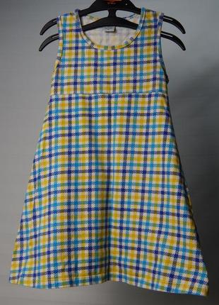 Трикотажное платье  в клеточку