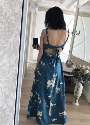 Шикарное длинное легкое платье