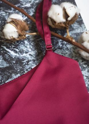 Стильный топ в бельевом стиле, шелковая майка базовая4 фото