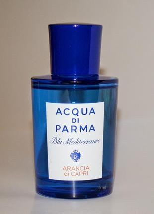 Acqua di parma _arancia di capri _original \ eau de toilette \миниатюра пробник 5 ml mini