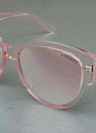 Versace очки женские солнцезащитные розовые зеркальные