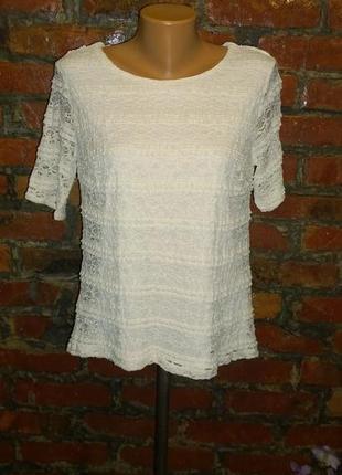 Обновка на лето! ажурная блуза кофточка из кружева bhs