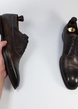 Navyboot made in italy кожаные туфли броги оксфорды  размер 44