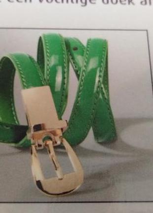 Узкий пояс зелёный 85см esmara германия