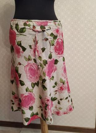 100% льняная юбка. размер 46-48. фирма sally