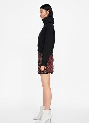 Юбка с высокой талией юбка в цветочный принт цветная юбка бордо