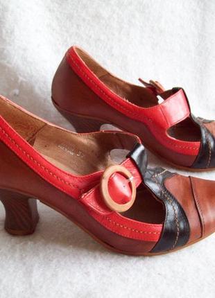 Туфли в винтажном стиле кожа