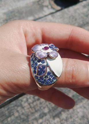 Кольцо керамика мед сплав
