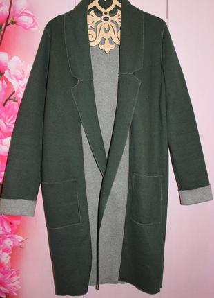 Шикарное пальто m&s размер 8, реально м-ка