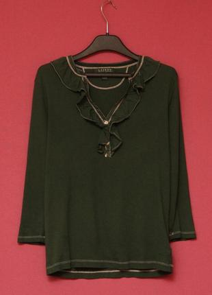 Polo ralph lauren s-m кофта-блуза с жабо хлопок, перламутровые пуговки.