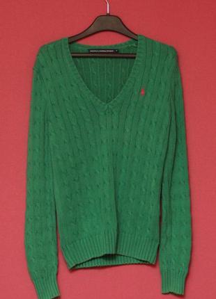 Polo ralph lauren m (s бирка) свитер фигурного плетения из хлопка