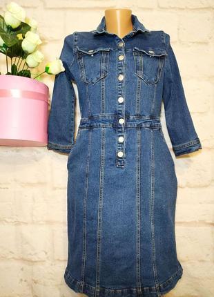 Платье миди джинсовое р 14 sosandar