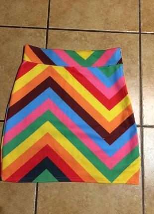 Летняя разноцветная юбка
