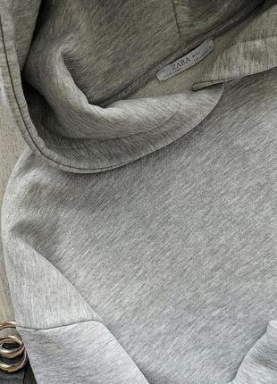 Крутой худи zara с обьемным капюшоном3 фото