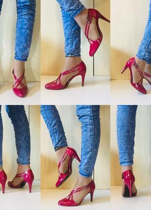 Розовые лаковые туфельки